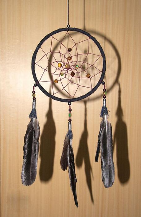 Ловец снов - красивый индейский амулет 6 (456x700, 299Kb)
