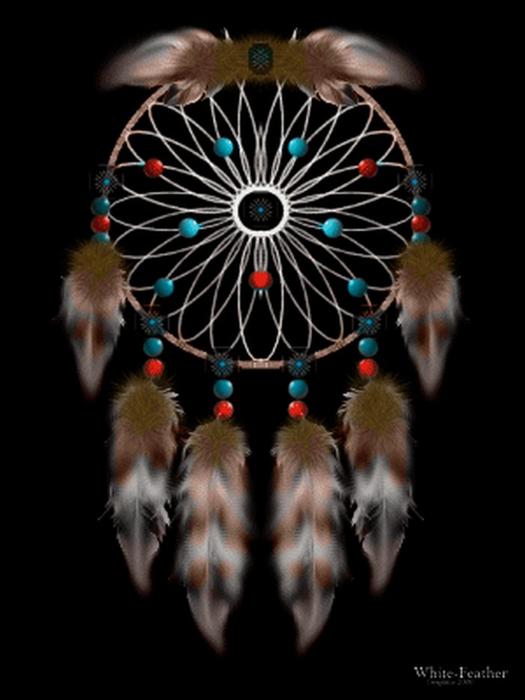 Ловец снов - красивый индейский амулет 17 (525x700, 213Kb)