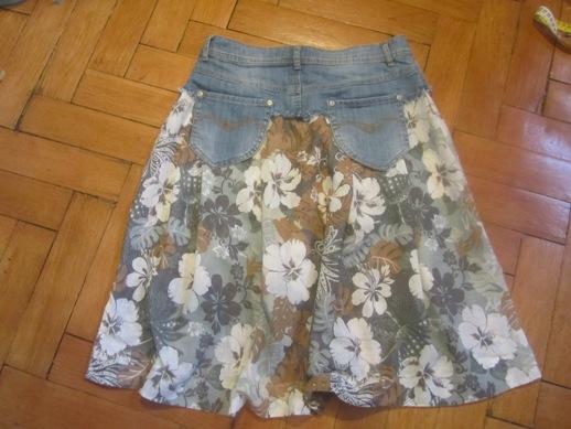 Своими руками юбка из джинс