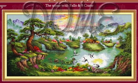 DOME 80702 The scene with falls & crane (439x267, 125Kb)