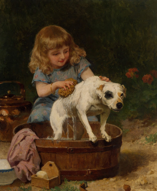 Bath Day, by Louis Marie de Schryver (529x640, 79Kb)