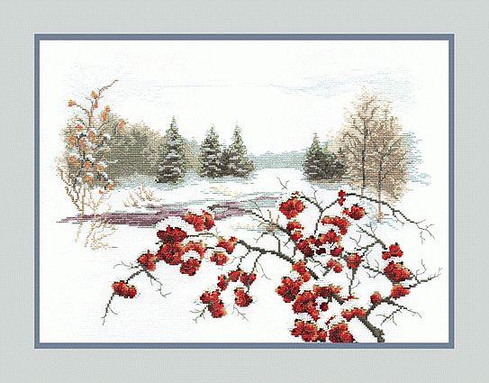 Зимняя рябина.