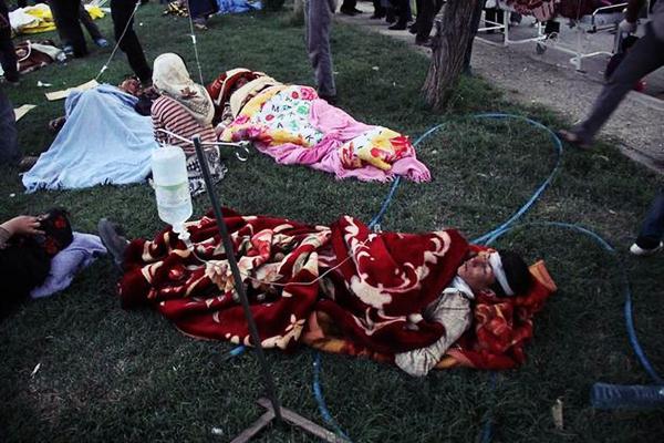 Потери Ирана от землетрясения