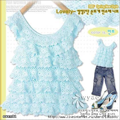Детское платье туника крючком