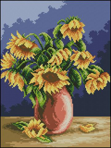 Polish Sunflowers Vase 1