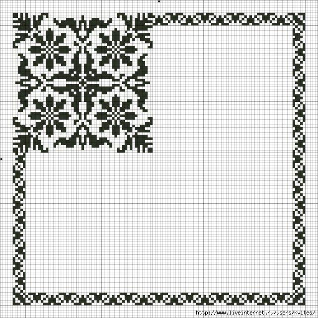 Узор для салфеток схемы вышивки 360