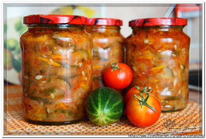 Салат из свежего огурца на зиму, рецепт с фото.