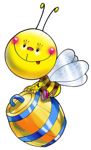 пчела на бочке с медом (365x600, 56Kb)
