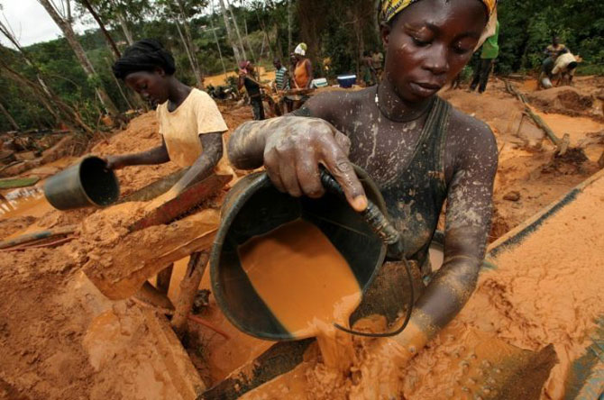 добыча золота в африке фото 1 (670x444, 83Kb)
