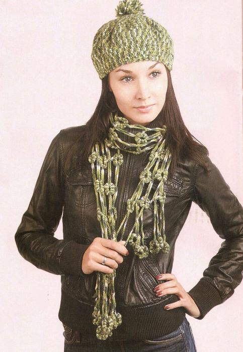 Шапка шарфик 9