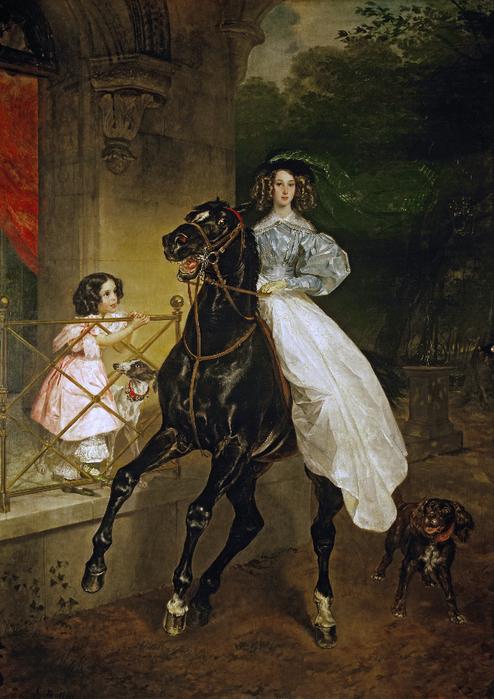 Брюллов Карл Павлович (1799-1852)  Всадница. 1832 (494x700, 462Kb)