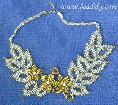 """Ожерелье """"Золото и серебро """""""