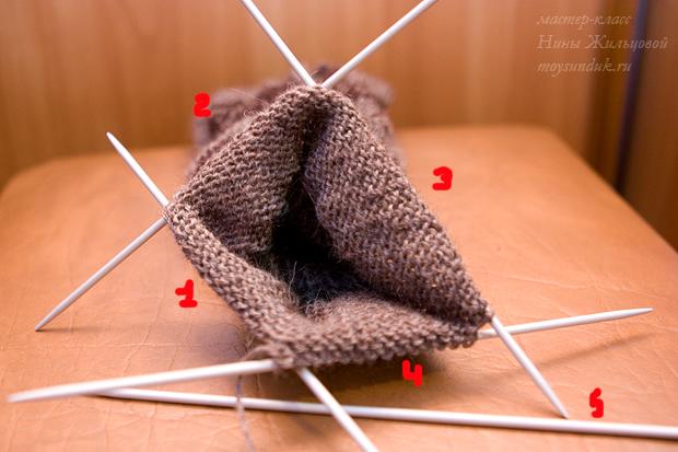 вязание на 5 спицах.