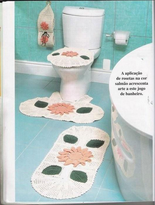 Связать крючком по схемам коврики для туалетной комнаты.  67 (528x700, 260Kb) .