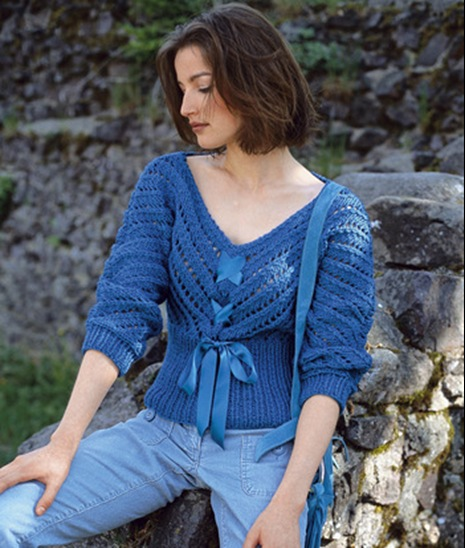 Вязание пуловера в рисунках