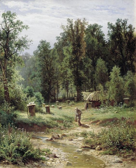 Пасека в лесу (564x700, 397Kb)