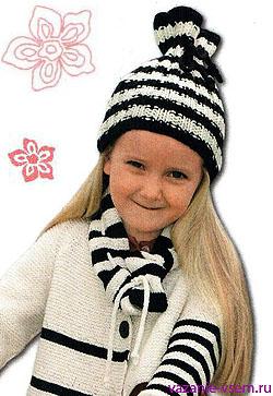 Вязание теплой шапки на девочку