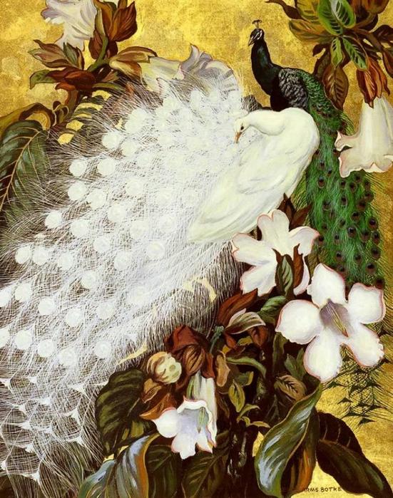 павлин картины художников 6 (551x700, 358Kb)
