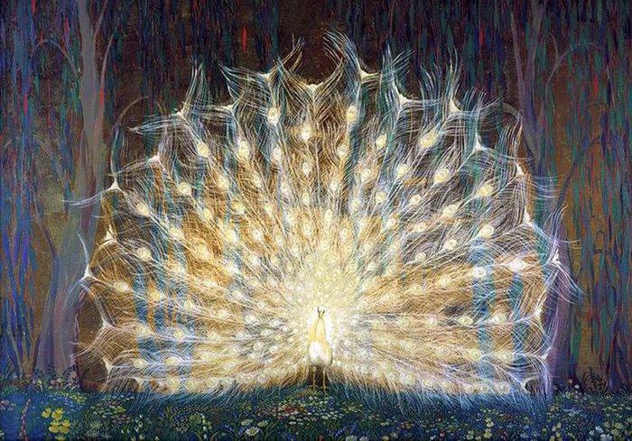 павлин картины художников 9 (700x489, 125Kb)