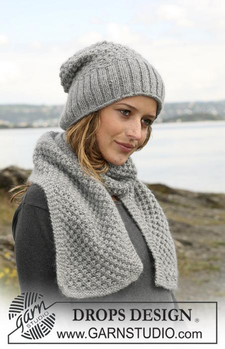 вязание на спицах шарфов.