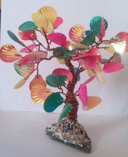 Как сделать дерево из паеток листиков фото - Sergts.Ru