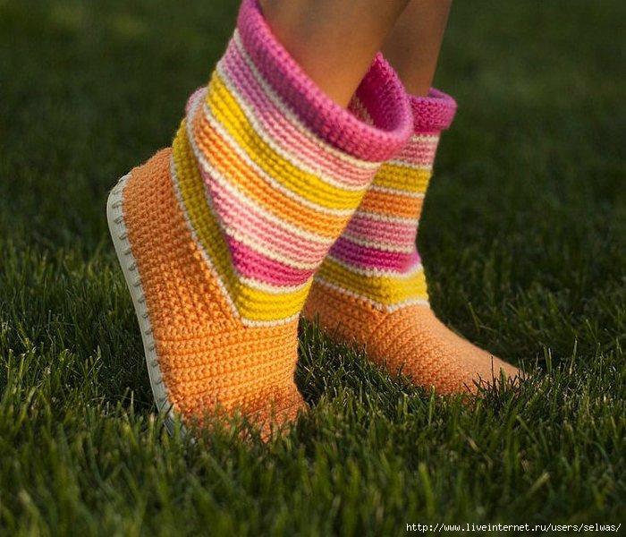 Вязаная крючком дамская обувь для прогулок/4683827_534ad82609a9 (700x600, 229Kb)