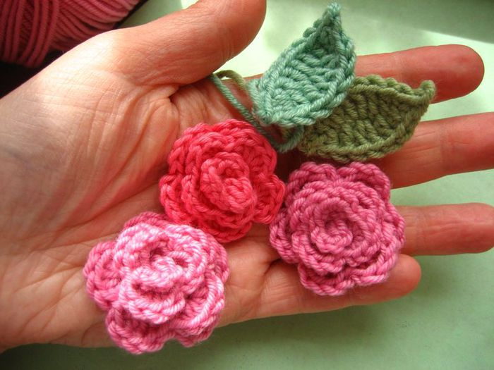Small Rose Flower Crochet Pattern : ??? ??????? ???? ???????. ??????-?????. ?????????? ?? ...
