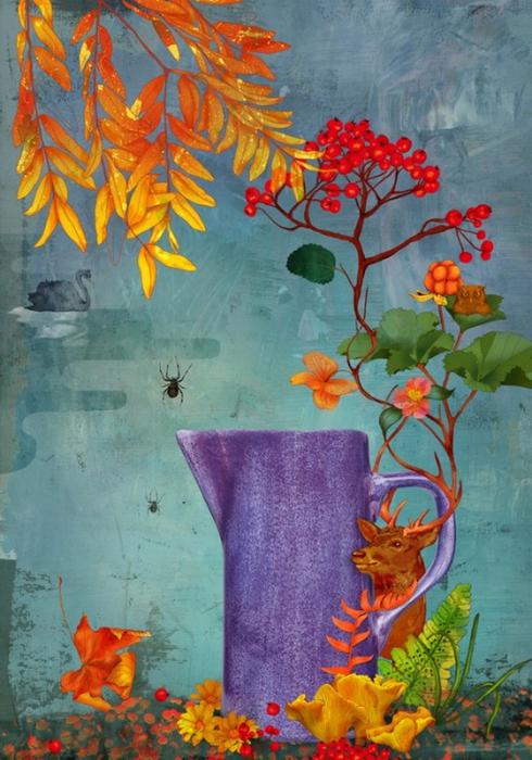 Красочные фэшн иллюстрации Linn Olofsdotter 6 (490x700, 429Kb)