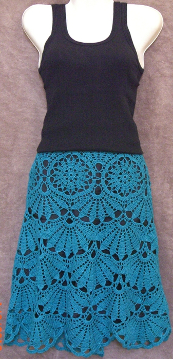 Ажурная юбка крючком схема