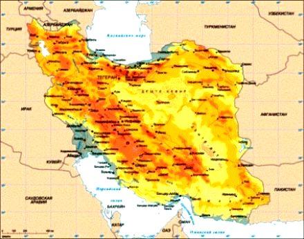 Карта Ирана (440x346, 38Kb)