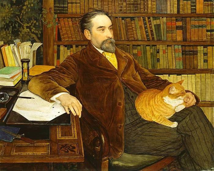 Ernest Bi?ler - Portrait de l'?crivain Edouard Rod (700x560, 80Kb)