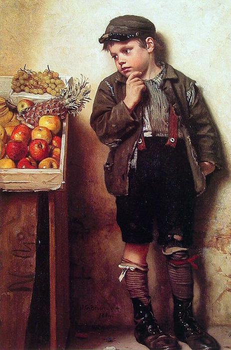 Eyeing the Fruit Stand, by John George Brown.jpg (463x700, 67Kb)