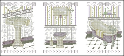 Схема для вышивки ванна и туалет