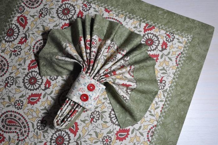 Салфетки своими руками из ткани фото