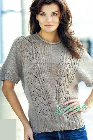 Модель пуловера взята из