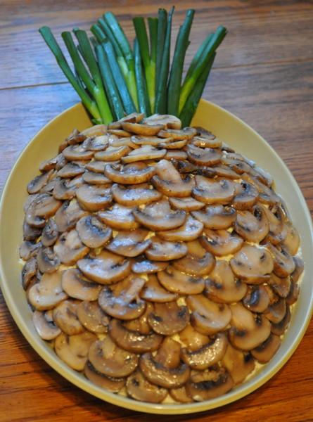 Салат с ананас с грибами рецепт с