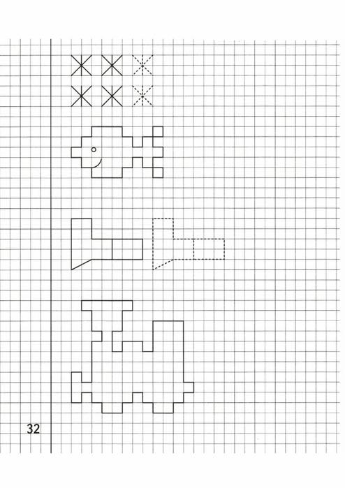 рисунки по клеточкам в тетради сложные для 12 лет черно белые