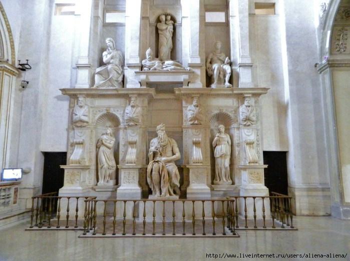 DSCN0426 Моисей. Скульптор Микеланджело. Сан-Пьетро-ин-Винколи (700x522, 194Kb)