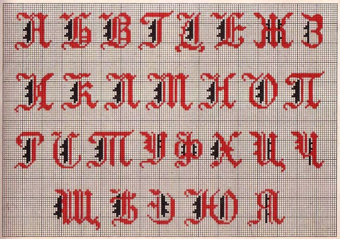 Russian Cross Stitch Alphabets