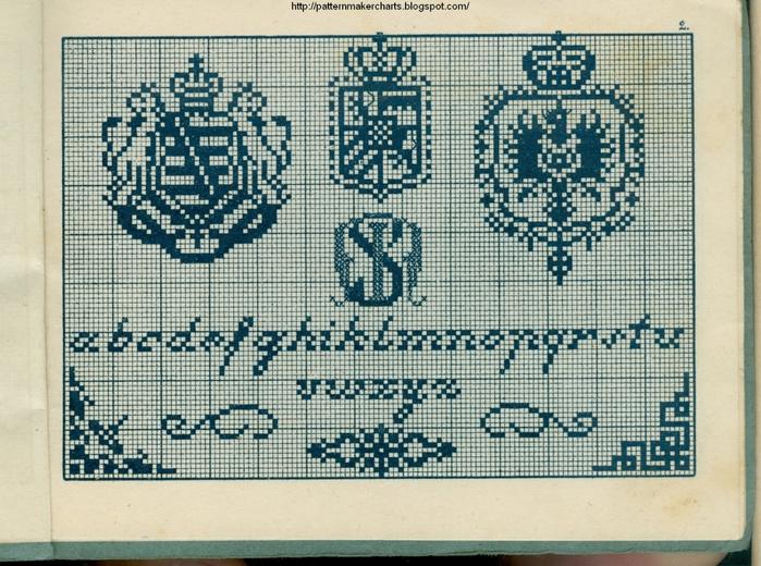 Alphabete u. Muster zum Waschezeichnen und Sticken iii -02 (700x520, 353Kb)