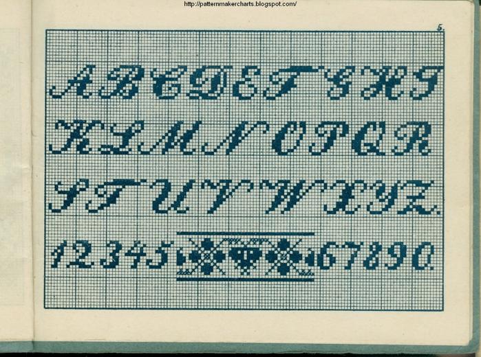 Alphabete u. Muster zum Waschezeichnen und Sticken iii -05 (700x520, 348Kb)