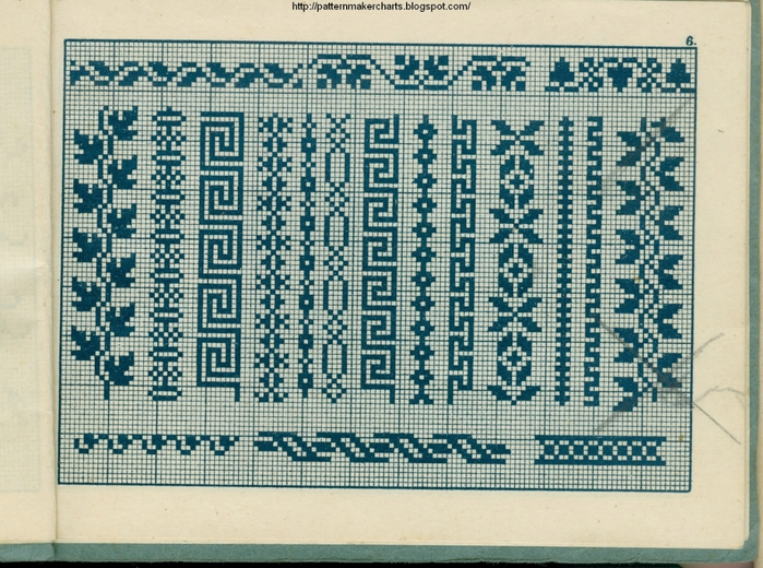 Alphabete u. Muster zum Waschezeichnen und Sticken iii -06 (700x520, 362Kb)