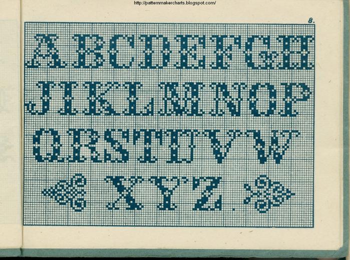 Alphabete u. Muster zum Waschezeichnen und Sticken iii -08 (700x520, 359Kb)