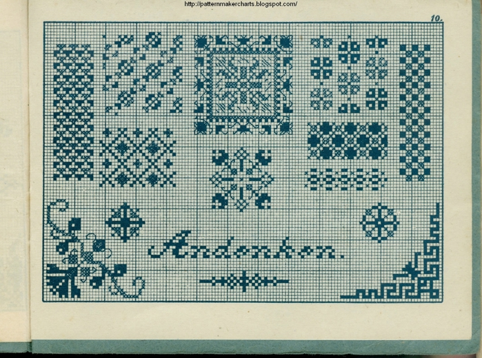 Alphabete u. Muster zum Waschezeichnen und Sticken iii -10 (700x520, 359Kb)