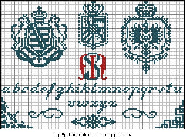 Alphabete u. Muster zum Waschezeichnen und Sticken iii 02 (650x492, 131Kb)