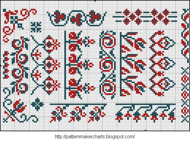 Alphabete u. Muster zum Waschezeichnen und Sticken iii 04 (650x487, 148Kb)