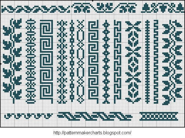 Alphabete u. Muster zum Waschezeichnen und Sticken iii 06 (650x487, 140Kb)