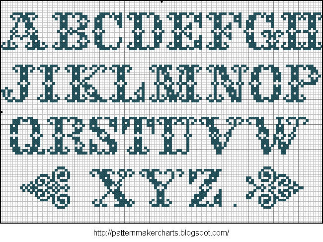 Alphabete u. Muster zum Waschezeichnen und Sticken iii 08 (650x487, 130Kb)