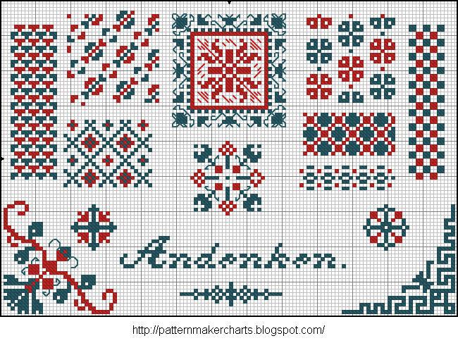 Alphabete u. Muster zum Waschezeichnen und Sticken iii 10 (650x487, 149Kb)