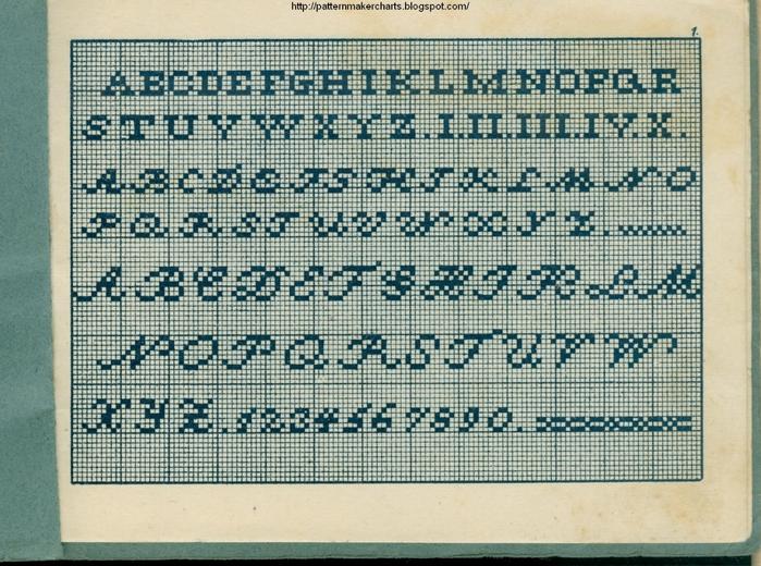 Alphabete u. Muster zum Waschezeichnen und Sticken iii -01 (700x520, 360Kb)